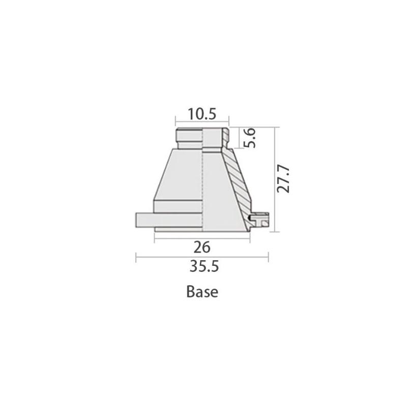 Podstawa do dyszy tnącej Raytools (Typ D)