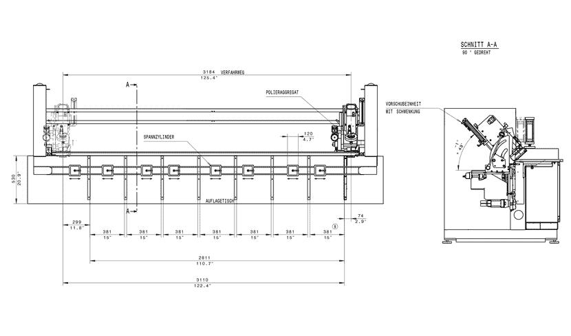 rysunek techniczny Polerka ABP310